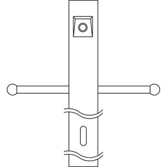 Post w/Ext Photocell & Ladder (10687 49904BK)