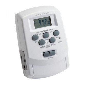 Digital Timer with Daylight Sa (10687|15556WH)