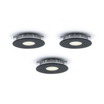 high power LED recessed superpuck (776|K4001HP-BK)