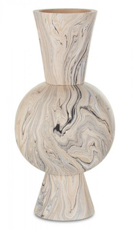 Gray Marbleized Round Vase (92|1200-0419)