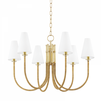 6 LIGHT CHANDELIER (57|8732-AGB)