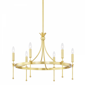6 LIGHT CHANDELIER (57 4327-AGB)