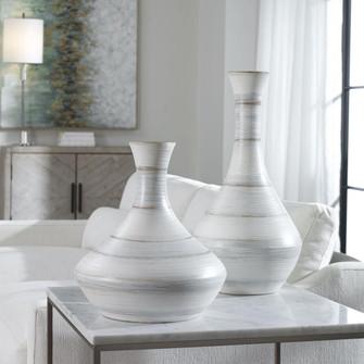 Uttermost Potter Fluted Striped Vases, S/2 (85 17964)