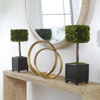Uttermost Preserved Boxwood Square Topiaries, S/2 (85|60187)