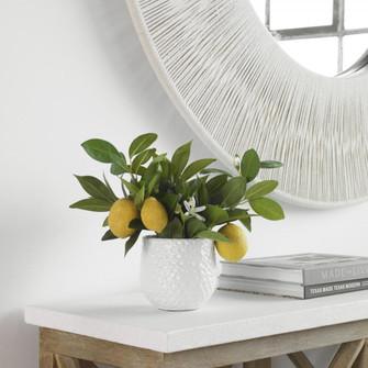 Uttermost Positano Lemon In White Pot (85|60190)