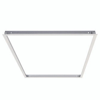 Flange Kit for Recessed Mounting 2x4 LED Edge-Lit & Back-Lit Panels, White (104 NPDBL-24RFK/W)