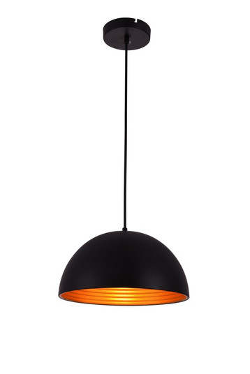 Circa Collection Pendant D11.5in H6.5in Lt:1 Black Finish (LDPD2040)