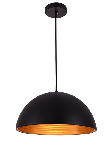 Circa Collection Pendant D15.5in H8in Lt:1 Black Finish (LDPD2042)