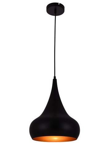 Circa Collection Pendant D11.5in H15in Lt:1 Black Finish (LDPD2047)