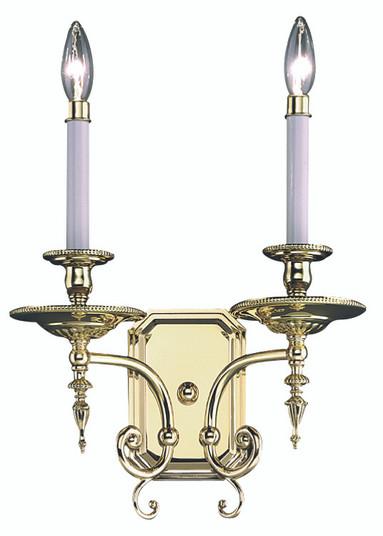 2-Light Polished Silver Kensington Sconce (7662 PS)