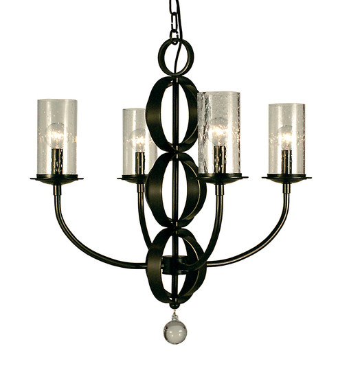 4-Light Brushed Nickel Compass Dining Chandelier (1044 BN)