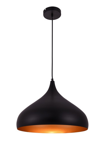 Circa Collection Pendant D16.5in H12in Lt:1 Black Finish (758|LDPD2045)