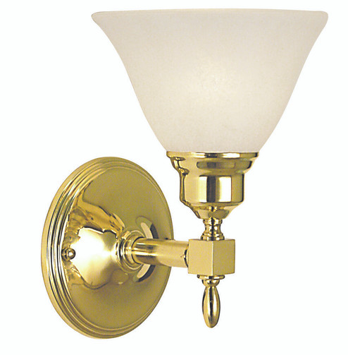 1-Light Antique Brass Taylor Sconce (2431 AB/AM)