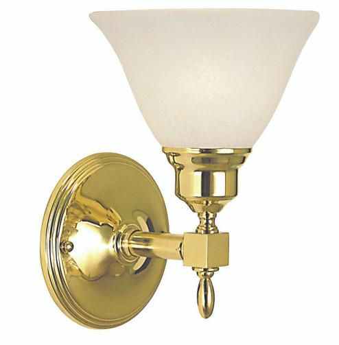 1-Light Brushed Nickel Taylor Sconce (2431 BN/AM)