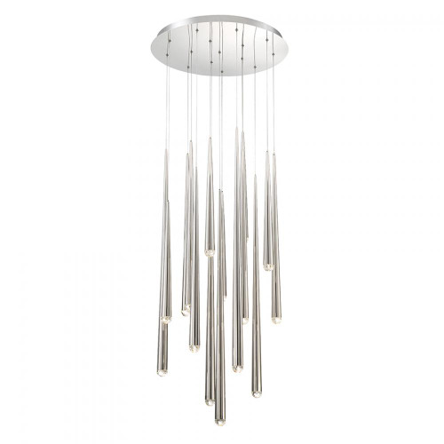 Cascade Crystal LED Round Chandelier (PD-41715R-PN)