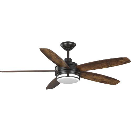 Albin Collection 54 inches  Indoor/Outdoor Five-Blade Bronze Ceiling Fan (P250036-129-30)