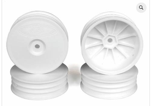 SLIM SPEEDLINE BUGGY WHEELS FOR TLR 22 3.0 - 4.0 / FRONT / WHITE / 4PCS