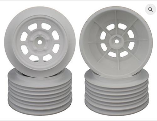 SPEEDWAY WHEELS FOR TRAXXAS SLASH REAR / 21.5MM BKSP / WHITE / 4PCS.