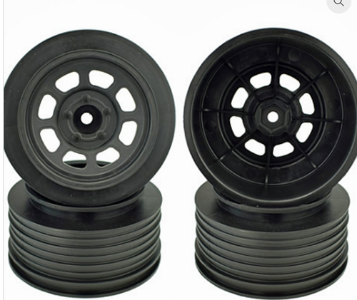 SPEEDWAY WHEELS FOR TRAXXAS SLASH REAR / 21.5MM BKSP / BLACK / 4PCS