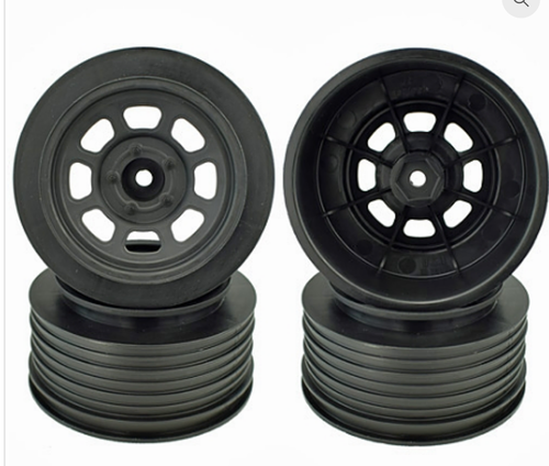 SPEEDWAY WHEELS FOR TRAXXAS SLASH FRONT / 19MM BKSP / BLACK / 4PCS