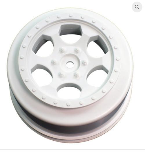 TRINIDAD SC WHEEL FOR ASSOCIATED SC5M - SC10 - PROSC / +3MM / WHITE