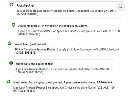 Traxxas Rustler 5 oz speed run Chassis skid plate