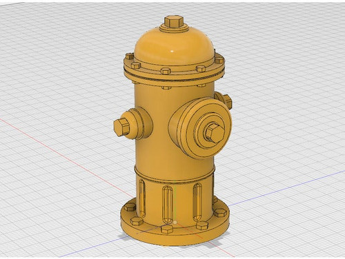 1/10th Scale Fire Hydrant