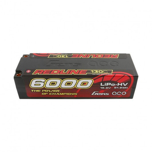 Gens ace Redline Series 6000mAh 15.2V 130C 4S1P HardCase HV Lipo Battery