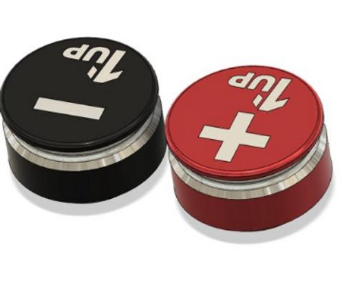1up Racing LowPro Bullet Plug Grips – Red/Black