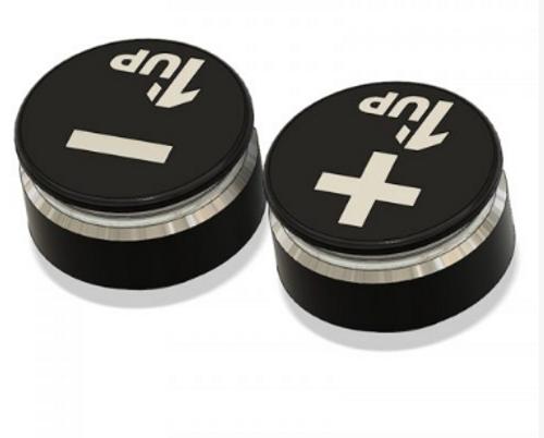 1up Racing LowPro Bullet Plug Grips – Black/Black