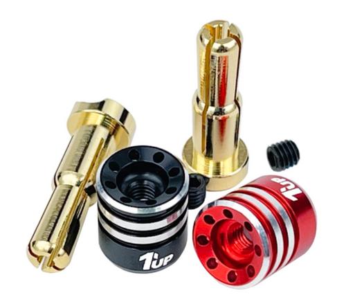 1up Racing Heatsink Bullet Plugs - 4/5mm Stepped