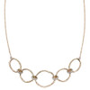9ct Yellow Gold hammered finish Diamond Necklace