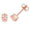 9ct Rose Gold Morganite Oval Stud Earrings