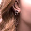 Silver Heart shaped Stud Earrings