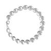 Silver round disc Bracelet
