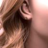 9ct Yellow Gold open Heart Stud Earrings