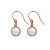 9ct Rose Gold & Rose Quartz Drop Earrings