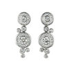 18ct White Gold Diamond Dewdrop Earrings