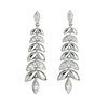 18ct White Gold Diamond Barleycorn Drop Earrings