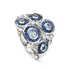 18ct White Gold Dewdrop Ring
