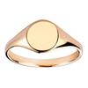 9ct Yellow Gold 9x7mm Oval Signet Ring