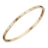 9ct Yellow Gold Diamond set hinged Bangle