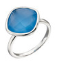 Silver & Blue Chalcedony Ring