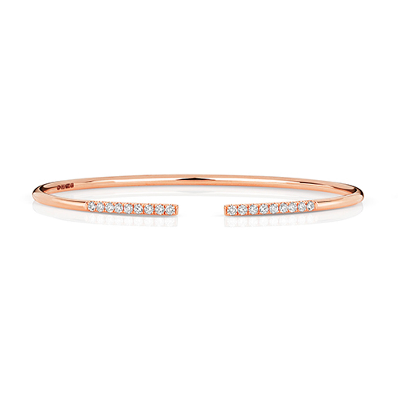 18ct Rose Gold & Diamond Bangle