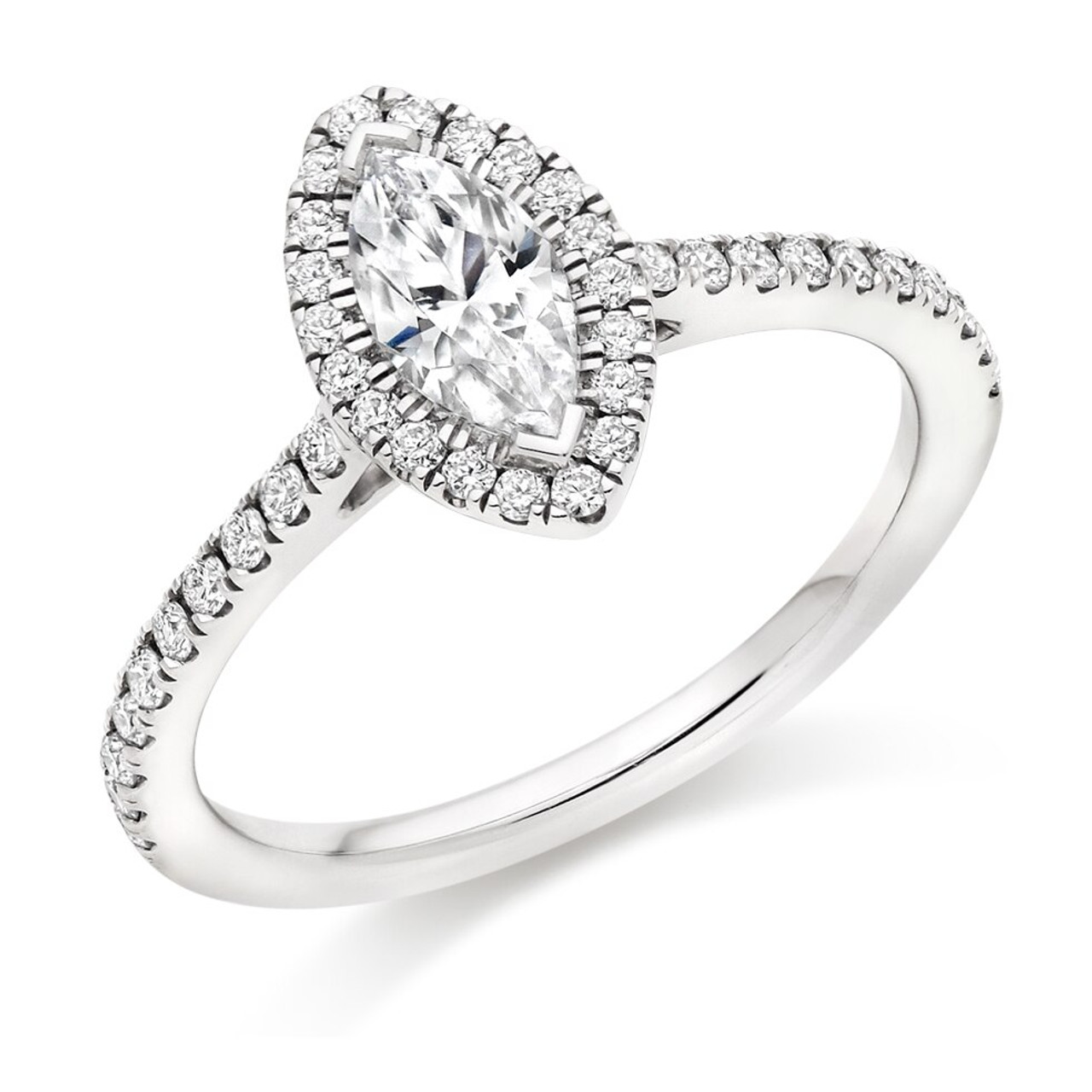 Orchid 0.50ct Diamond Engagement Ring