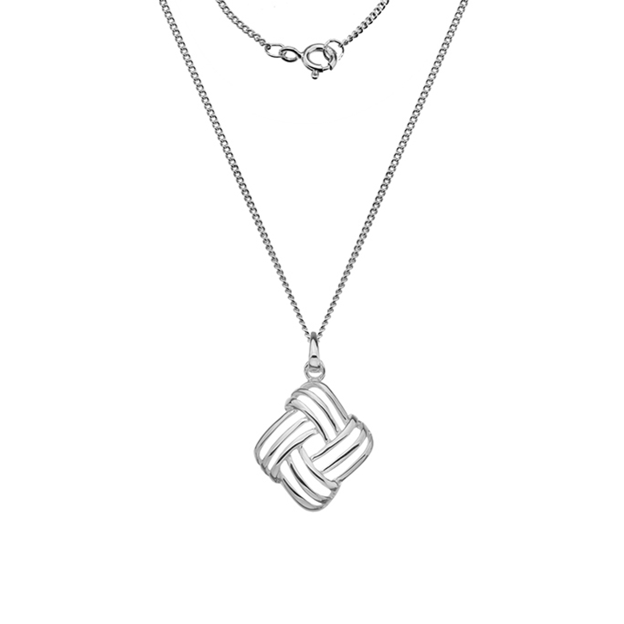 Silver triple Woolmark Pendant on Chain