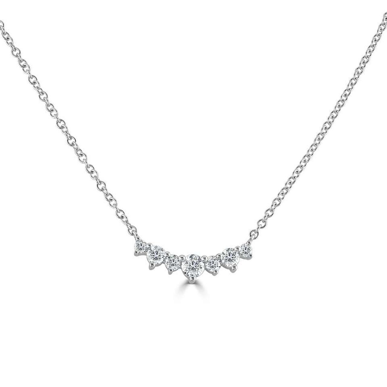 18ct White Gold Diamond Tiara Necklace