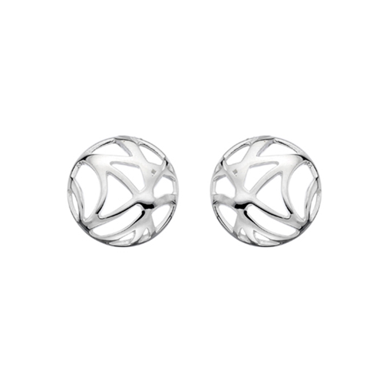 Silver Abstract circle Stud Earrings
