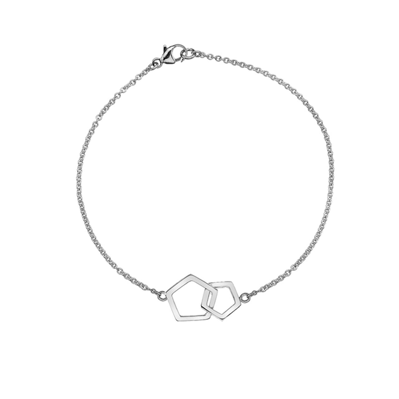 Silver open pentagon Bracelet