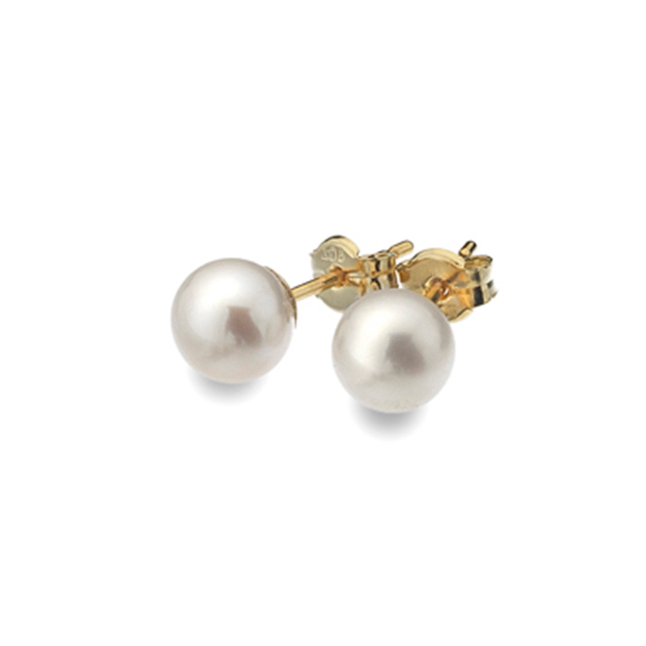 af60c04ef 9ct Yellow Gold 6mm Freshwater Pearl Stud Earrings - Hester Clarke